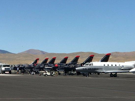 Reno Air Racing Association: Patriots excellent acrobatic team.