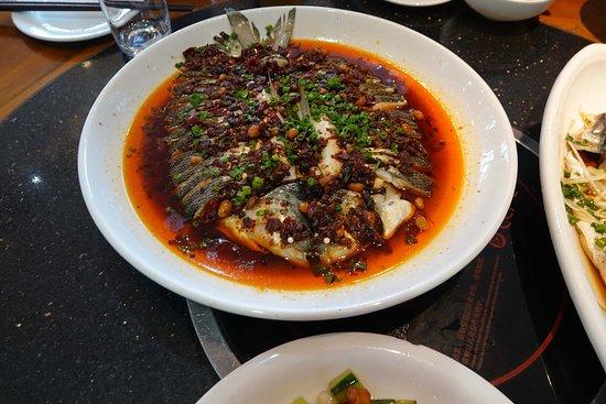 Yining, China: Fresh fish from lake Sayram