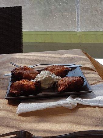 Manganari, اليونان: Frittelle di pomodoro