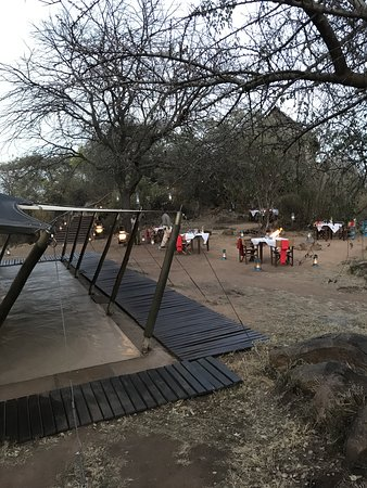 An authentic Serengeti Camp