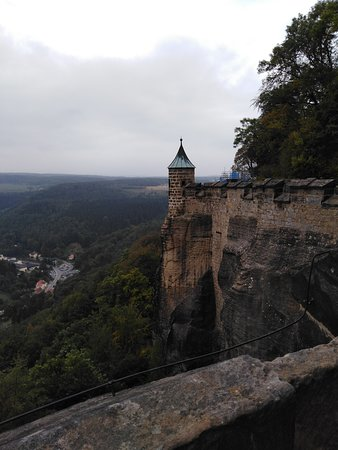 Koenigstein, เยอรมนี: widok z murów obronnych