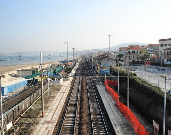 Province of Ancona, Ιταλία: Palombina train station, near my Italian home town of Ancona.