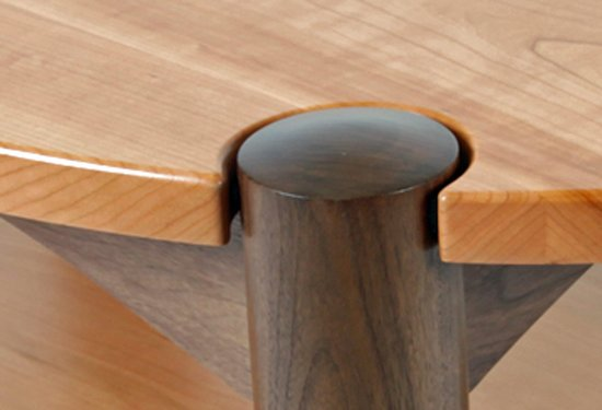 Oval Coffee Table With Shelf.Detail Cherry And Walnut Oval Coffee Table With Shelf Picture Of