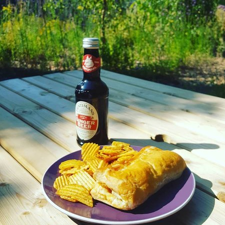 Sharnbrook, UK: Locally sourced sausage roll
