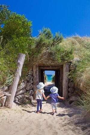 Bridport, Úc: Exploring down the rabbit hole. This magical spot felt like we were in a fairy tale. #tasmania #familytravel #theblondenomads
