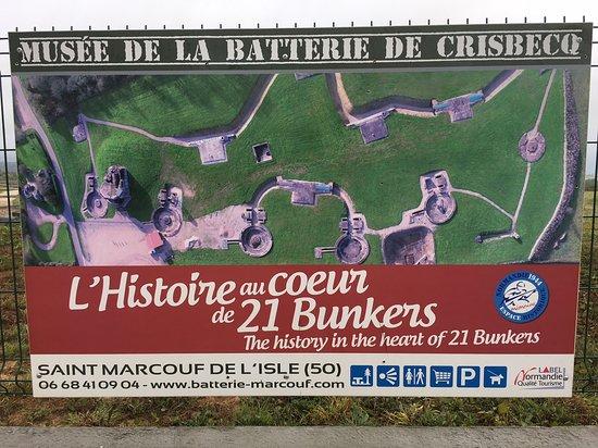 Batteries de Crisbecq: signage at the site