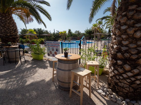 Càlig, España: terrasse bar vue piscine