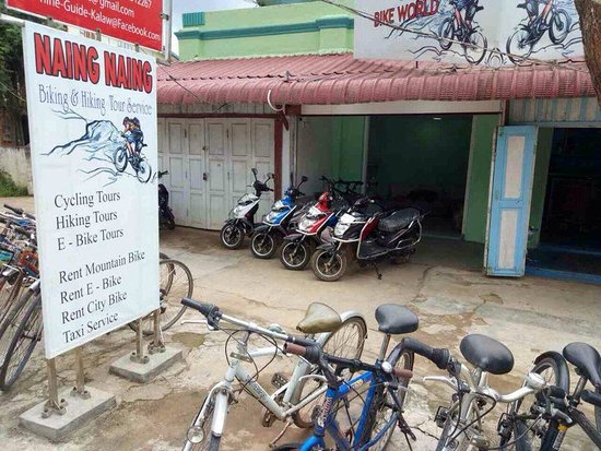 Kalaw, Myanmar: Naing Naing ( Bike World ) Tour office