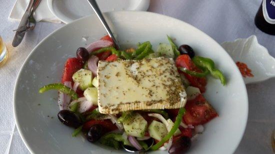 Πήλιο, Ελλάδα: Lokaler griechischer Bauernsalat