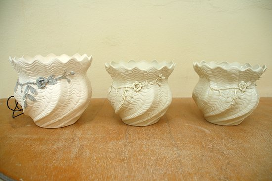 Belleek, UK: Learning about firing the clay and how it shrinks