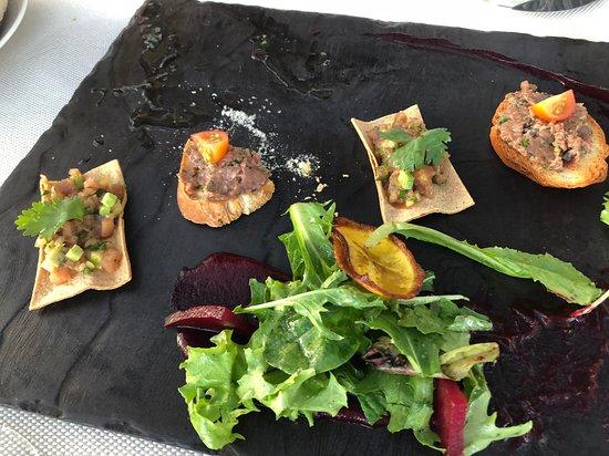La Roca: Appetizers - Tuna Tartar and Beef Tartar