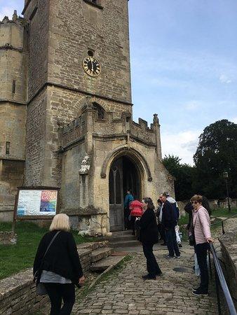 St Cyriac's Church: Entrance to church.