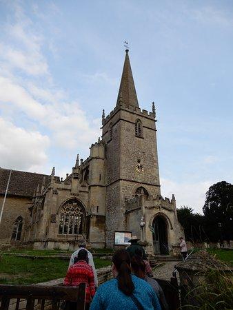 St Cyriac's Church: Watch your step.