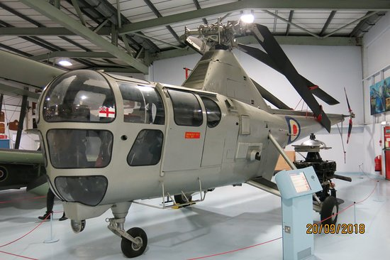 Ilchester, UK: One of several helicopters