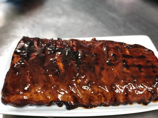 Wonders Grill: Full Plate of Pork, Open flame Grill with our Secret Basting sauce