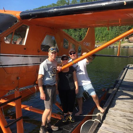 Armstrong Station, Canada: Our beaver pilot Travis