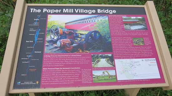Papermill Village Bridge: Tells it all