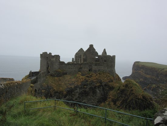 Dunluce Castle: View from distance