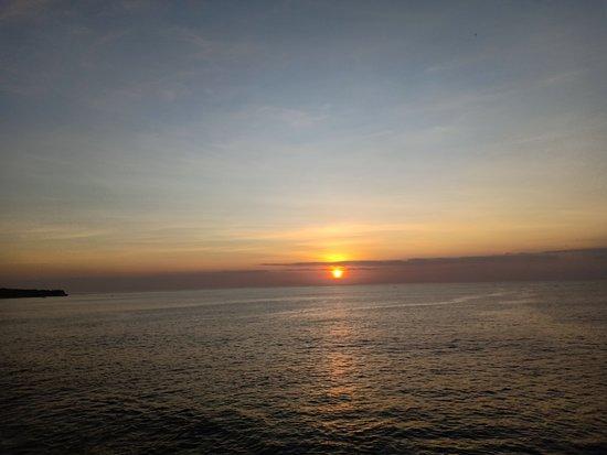 Gianyar, Indonesia: Sunset from tegal wangi beach
