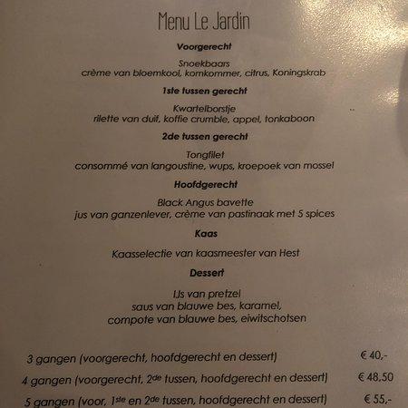 Rucphen, Holandia: Restaurant Le Jardin