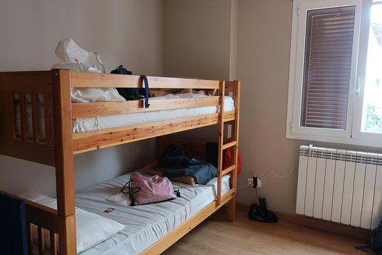 Larrasoana, Hiszpania: 2段ベッドの4人部屋