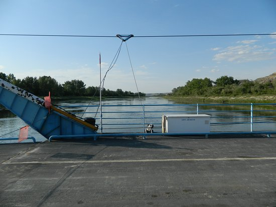 Bleriot Ferry : Sur la Red Deer River