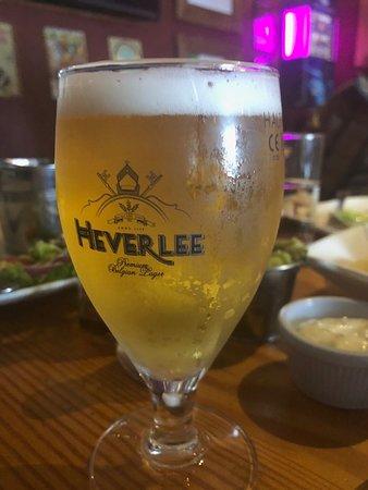 Cushendun, UK: Heverlee Beer from Belgium.