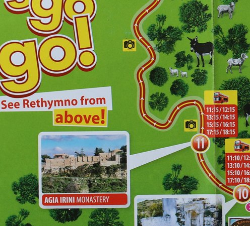 """Roussospiti, Grecia: J'ai utilisé le bus """"Rethymno City Tour"""" pour m'y rendre"""