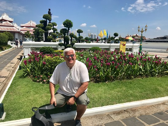 Flowers in front of Wat Arun - Picture of My Tour Guide