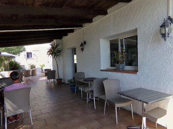 U San Matteu: Terrasse ou nous avons déjeuné