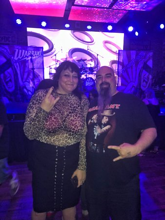 Highland, CA: Club Serrano member Liza won tix and a meet & greet to see Warrant at Rock & Brews  on 9/21.