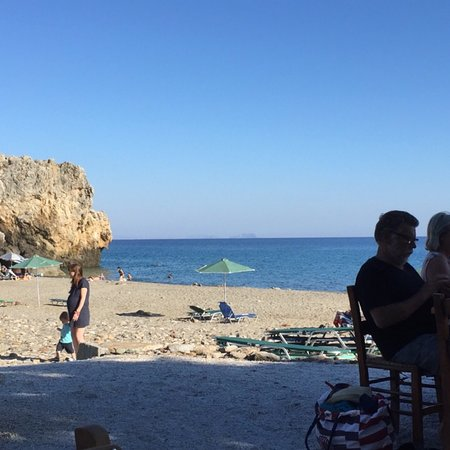 Rodakino, กรีซ: Εξαιρετικό φαγητό μπροστά σε υπέροχη θάλασσα!
