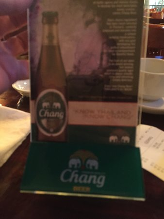 Interesting...they have Chang Beer