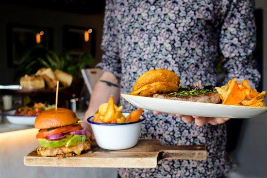 Irish steaks, veggie burgers and cold pints