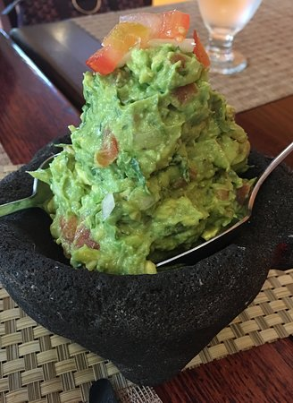 Bogota, NJ: We asked for the Guacamole to be made spicy, and our tongues and lips were tingling.