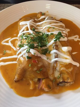 Bogota, NJ: Crepes stuffed with Lobster and Shrimp.
