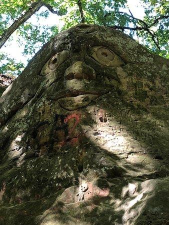 Warrensburg, MO: Rock Face at Cave Hollow Park
