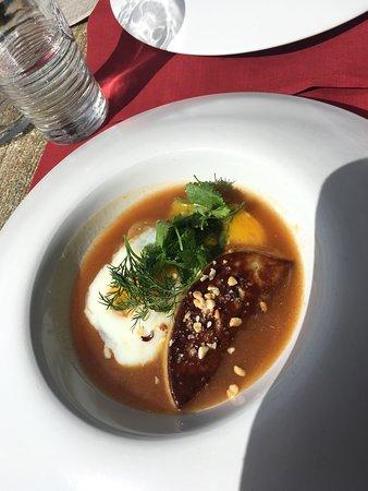 Restaurant La Tablée : Oeuf 63° avec foie gras