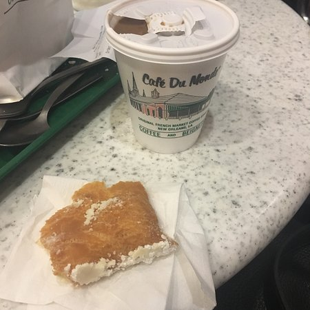 Fresh beignets and coffee