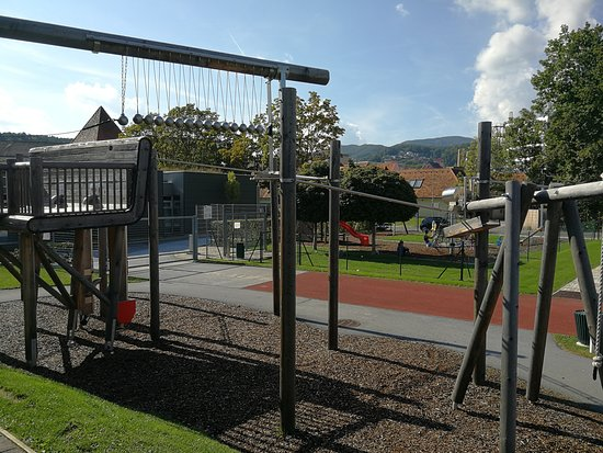 Weiz, Austria: view of playground