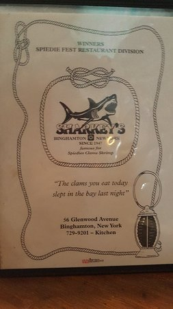 Sharkey's Bar & Grill, Binghamton - Menu, Prices