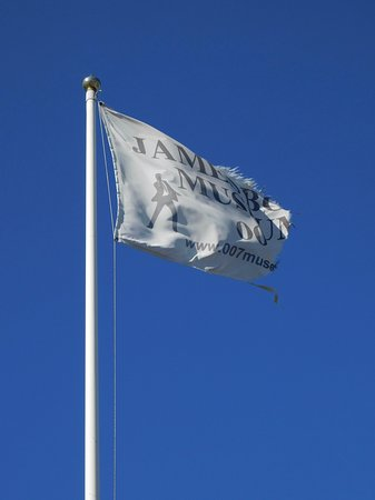 Nybro, Swedia: Flag flying outside the museum.