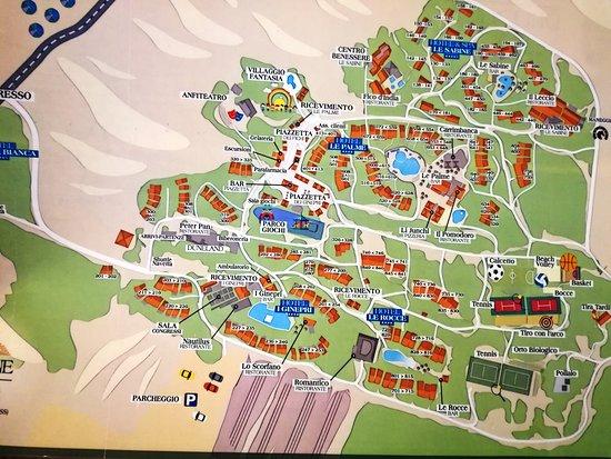 Cartina Sardegna Con Hotel.Piantina Dell Hotel Foto Di Resort Spa Le Dune Sardegna Tripadvisor