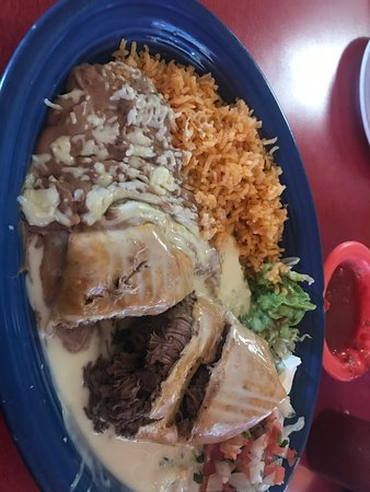 Holden, MO: Beef chimichanga