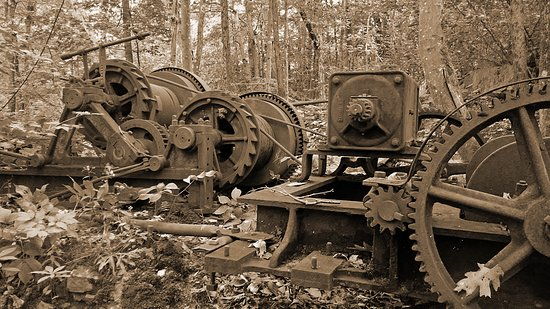 Becket, MA: One of the many rusting historic artifacts at the Historic Quarry.