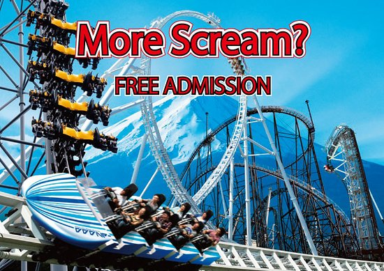 Fujiyoshida, Japan: more scream? free entry