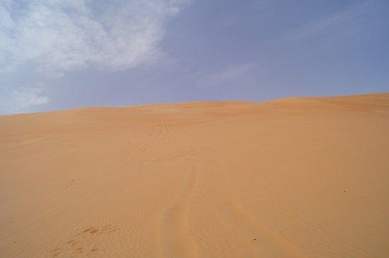 Liwa Oasis, Ηνωμένα Αραβικά Εμιράτα: Düne mit Jeep Spuren