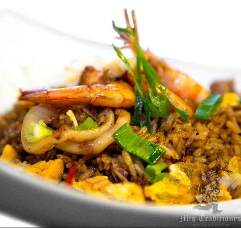 Restaurante Peruano Mis Tradiciones: Arroz chaufa de mariscos