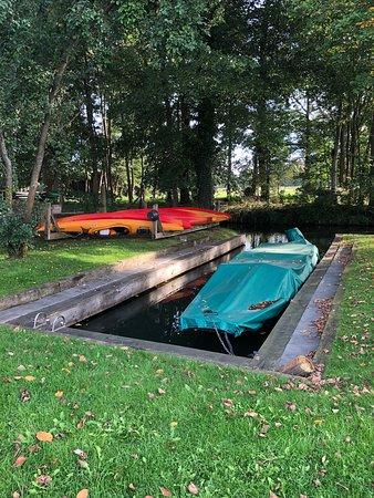 Schlepzig, Γερμανία: eigene Bootsanlegestelle