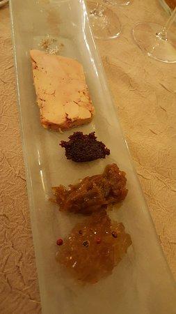 la villa des houx: foie gras avec un extrordinaire gelée au cavados
